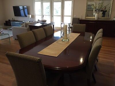Mahogany Extension Dining Table PLUS 10 Free Chairs
