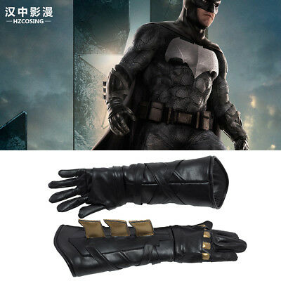 Justice League Batman Bruce Wayne Leather Gloves for Halloween Props