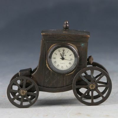 Chinese Copper Hand Made Automobile style Mechanical Clock