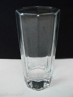 "Luminarc Octime Tall Juice Glass Cristal d'Arques Double Shot Size 4 3/4"" tall"