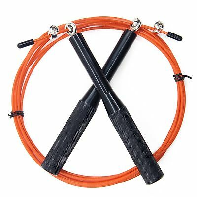Crossfit Speed Cable Wire Skipping Jump Rope Cardio Heart MMA Quality Weighted