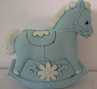Baby Boy Keepsake Rocking Horse Money Box Christening Baby Shower Newborn Gift