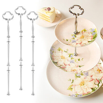 Home 3 Tiers Cupcake Plate Stand Handle Fitting Hardware Rod Cake Plate Stand AU