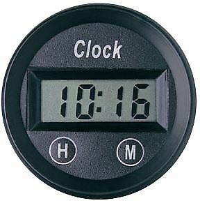 "Speco Meter Street Series 2"" 50Mm Black Universal Digital Clock 12 Volt"