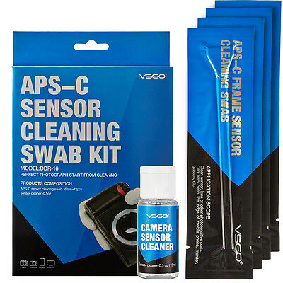 DSLR sensor cleaning swab kit for Canon 70D 600D Nikon D7000 D90 APS-C camera
