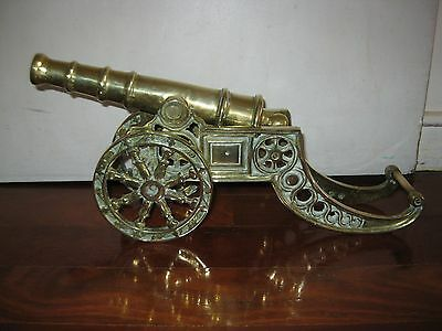 Very heavy  & Large vintage solid Brass Cannon British  nice