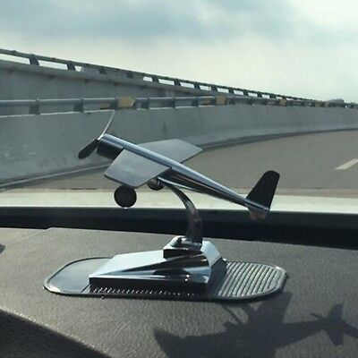 Car Ornaments Solar Airplane Model Aircraft Energe Demonstrate Kit Car styling
