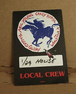 1991 NEIL YOUNG & CRAZY HORSE Backstage Pass RAGGED GLORY Sonic Youth Chicago