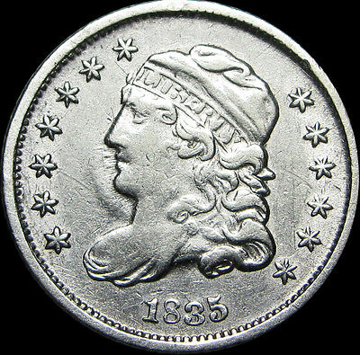 1835 Capped Bust Half Dime 5c Silver ----  STUNNING TYPE COIN ---- #D311