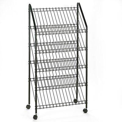 Safco Products 4129CH Mobile Literature Rack, Charcoal
