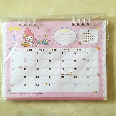 💖 SANRIO MY MELODY 2018 Desk Top Calendar From Japan Kawaii F/S💖