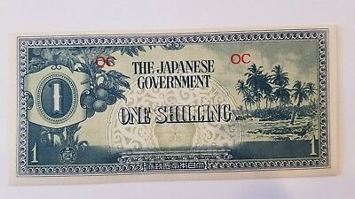 The Japanese Government One Shilling, 1942 UNC