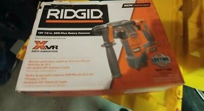 "NEW RIDGID R86710B Cordless 18-Volt 7/8"" SDS-PLUS Rotary Hammer Anti Vibration"