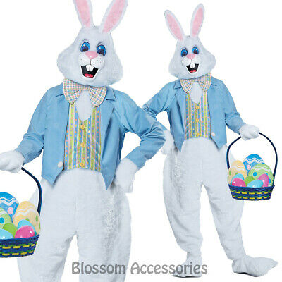 CL705 Deluxe Easter Bunny Rabbit Mascot Suit Fancy Dress Up Adult Costume Outfit
