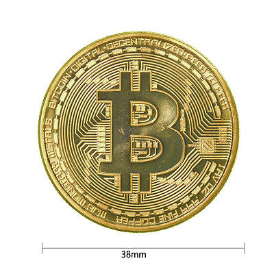Gold Plated Bitcoin Coin BTC Coin Collection Commemorative Gift Collectible Gift