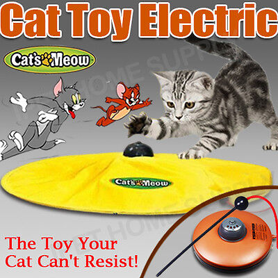 Hot Electronic Cat Toy Fabric Cat's Meow Undercover Moving Mouse Fun