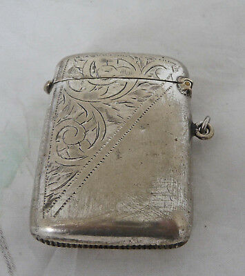 Decorative Silver Plated Edwardian  Vesta Case