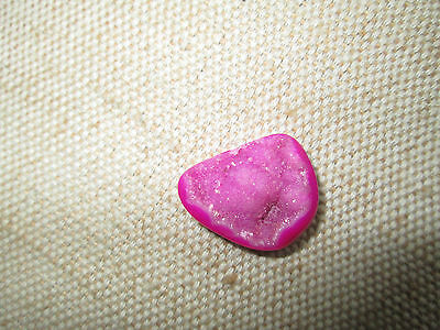 ~ Natural Pink Druzy Agate Cabochon Gemstone ~