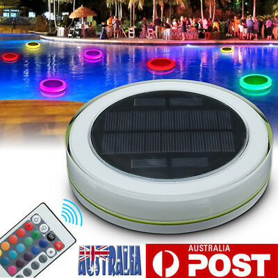 Solar RGB Underwater Lamp LED Garden Pond Swimming Pool Floating Light Chritsmas