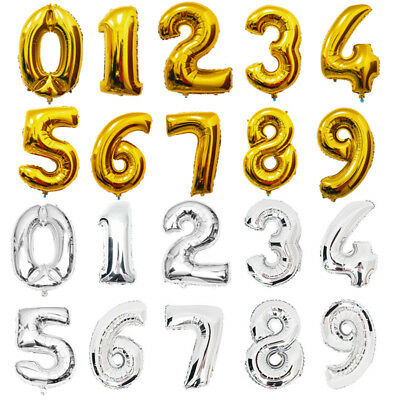 """40 """" Giant Foil Balloons Number Shape Helium Wedding Birthday Party Xmas Gift"""