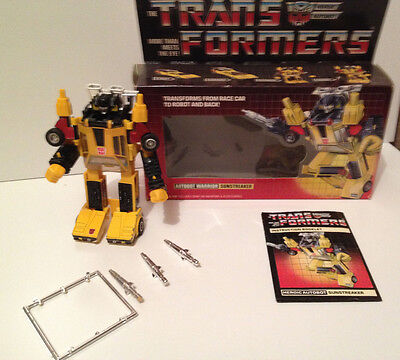 Transformers G1 Autobot Warrior: SUNSTREAKER, Vintage Hasbro 1984, Original!