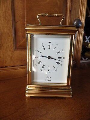 English Carriage Clock By JJ Elliott A Very rare Carriage Clock Fully Restored