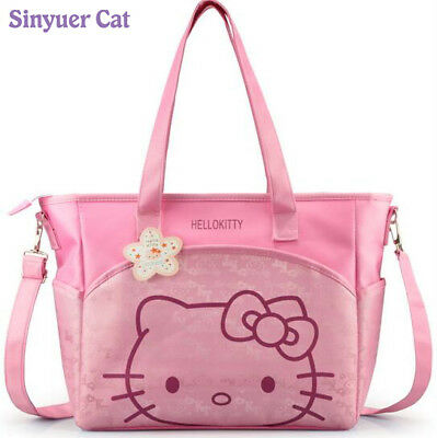 New Canvas Baby Diaper Bag Stroller Mom Mummy Mother Hello Kitty Maternity Nappy