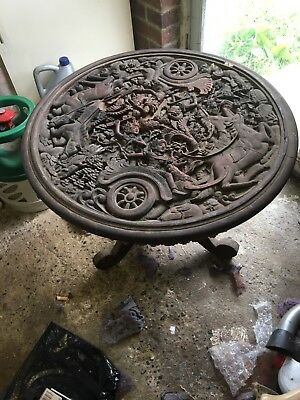 Unusual Antique Carved Table