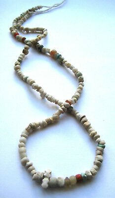 circa.400 A.D Ancient Egypt Rock Crystal Necklace Bead & Amulet Set