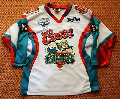 Belfast Giants, Northern Ireland, Mens hockey Jersey by K1, Medium, Sewn