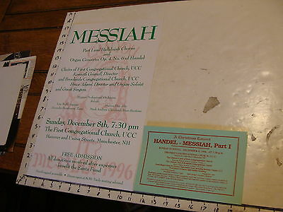 vintage music poster/broadside: MESSIAH 1996 Manchester NH