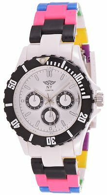 Prince London NY multi-coloured strap plastic toy style dials