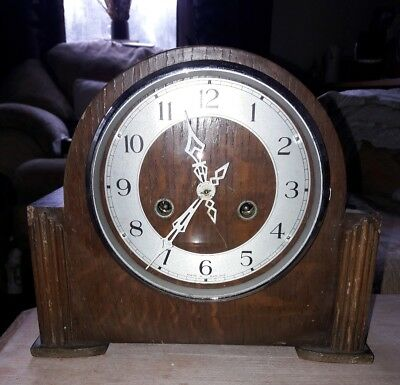 Smiths Enfield Stiking Mantle Clock.