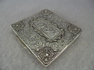 Quality Romanesque Scene Solid Silver Card Case