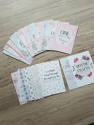 Vintage/Shabby Chic Baby Milestone Cards | baby shower gift | baby cards