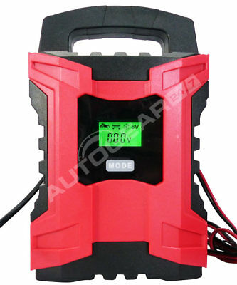 6/12v 10A 3-200Ah Automatic Smart Leisure Car Bike Motorbike Battery Charger BC3