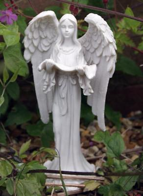 White Guardian Angel Holding Prayer Shawl Grave Memorial Ornament Ao_33122 A