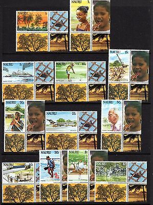 NAURU 1984 Island Life Definitives with tabs Set of 12
