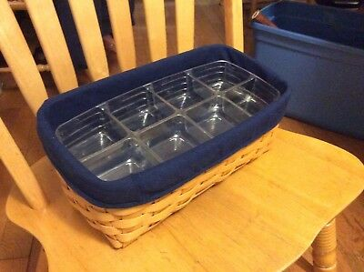 longaberger basket tapered w/2 trays and liner