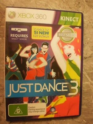 JUST DANCE 3 Xbox 360 Kinect ✓NEW ✓SEALED ✓OZI ✓Dancing