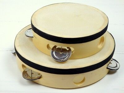 Natural Tambourines Small & Large