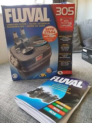 Fluval 305 External Aquarium Filter - great condition, recently serviced
