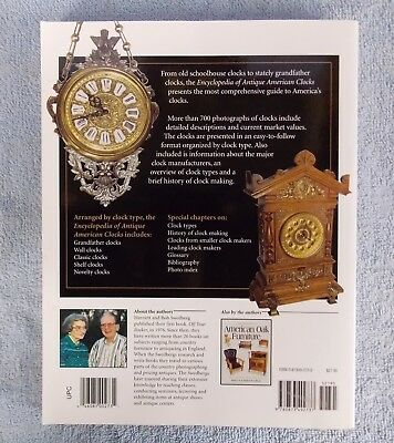 Reference Book Encyclopedia Antique American Clocks Soft Cover Swedberg 2001
