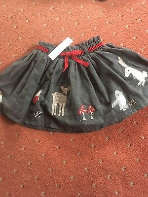 Next Signature Winter Christmas Skirt Age 12-18 Months BNWT