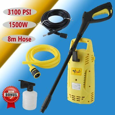 3100PSI High Pressure Water Cleaner Washer Electric Pump 8M Hose Gurney ON