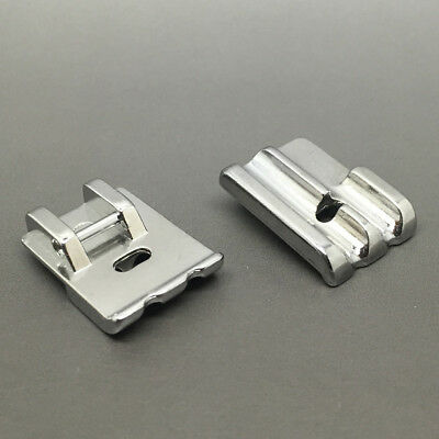 New Universal Metal Double Welting Piping Cording Foot For Singer Brother Janome