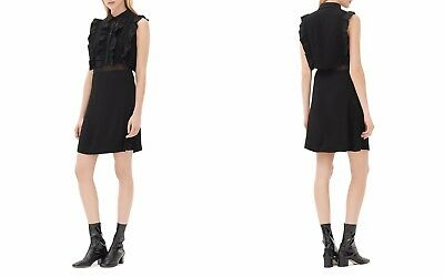 6afe01893c9c2 SANDRO RONELI LAYERED-EFFECT Dress Size 1 Small NWT MSRP $470 ...