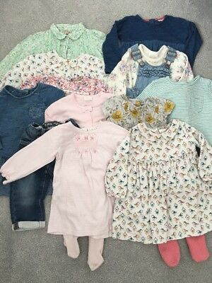 Next Baby Girls Bundle Dresses & Outfits x12  9-12 Months