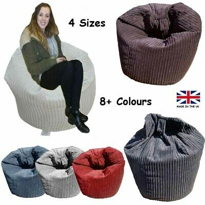 Corduroy beanbags - Polystyrene Beans & handle included - WORLDWIDE FROM THE UK