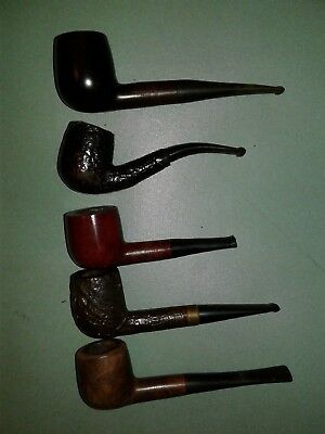 Lot of 5 Vintage Tobacco Estate Pipes For Repair/Restore
